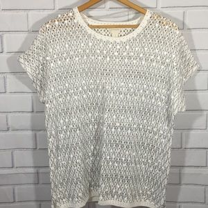 Chico's Sequin Shimmer Pullover Sweater Size 3